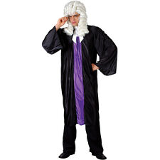 Mens High Court Judge Barrister Robes Fancy Dress Halloween Party Costume
