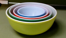 "ONE PYREX PRIMARY COLOR MIXING BOWL, #403 GREEN 8 1/2"" diameter"