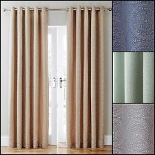 Estow Ring Top/Eyelet Lined Curtains Range (Pair) - Available in 4 Colours