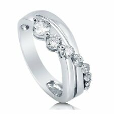 Sterling Silver Heart Shaped Cubic Zirconia CZ Solitaire Engagement Wedding 259