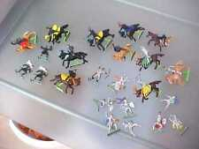 Vtg 1971 Britains England Deetail Knights Horses Turks w Some Weapons LOT * Used