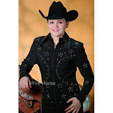 6301 Ladies Black Zip Front Horse Show Jacket from 1849 Ranchwear NEW