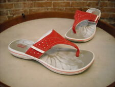Clarks Red Brinkley Star Sporty Thong Sandals NEW