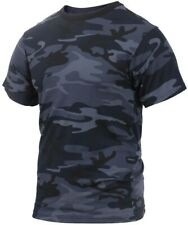 T-shirt Camo Midnight Dark Blue Cotton Poly Blend Camouflage Rothco 3830