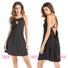 Womens Loose Strapless Dress Sexy Backless Party Evening Mini Dress Size S-XL