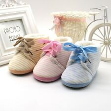 Infant Toddler Boys Girls Soft Sole Shoes Lovely Baby Lace-Up Crib Shoes