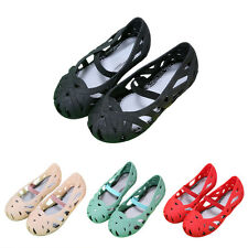 Children Kids Girl Casual Princess Ballet Hollow Out Jelly Shoes Sandals Loafer