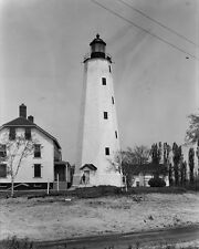 Sandy Hook Light lighthouse at New York Harbor in New Jersey Photo Print