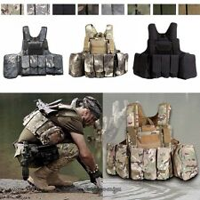 Military Airsoft Tactical Vest Paintball Molle Strike Plate Carrier Swat Combat