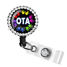 Retractable Badge Reel Name ID Clip Holder OTA Occupational Therapy Assistant