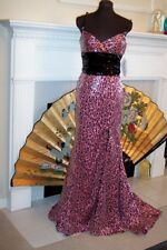 sz  6 Sparkling Sequin Pageant Pink Formal Dress MacDuggal Glamour Gown  NWT
