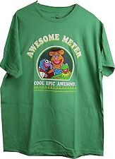 Disney The Muppets Awesome Meter Kermit Gonzo Fozzie Adult Men's T-Shirt XL