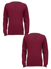 Top Class Unisex School V-Neck Knitted Pack of 2 Jumpers in Grey