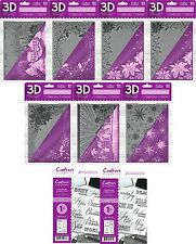 """NEW Crafters Companion 3D Christmas Embossing Folders or Stamps 5"""" x 7"""""""