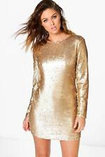 Boohoo Womens Boutique Fliss Sequin Bodycon Dress