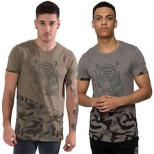 Juice Mens T Shirt Crew Neck Tee Graphic Print Camo Short Sleeve Top Size S-XL