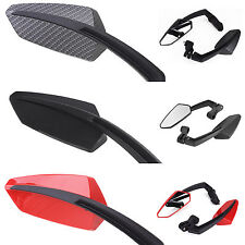 2X MOTORCYCLE MIRRORS UNIVERSAL CYCLE MOTORBIKE BIKES SCOOTER REAR VIEW MIRROR