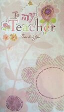 THANK YOU TEACHER CARDS WITH ENVELOPES - DIFFERENT DESIGNS