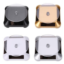 Rotating Solar Power Jewelry Phone Watch Display Stand Holder Turn Table Dreamed