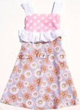 Dress Sundress White Polka Dot Paisley Floral Flower Print Youth Girl Cleo Dot