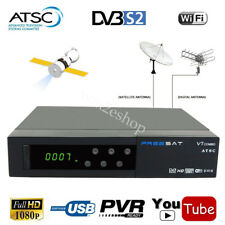 Digital Free Sat v7 ATSC + HD MPEG-4 DVB-S2 Satellite Receiver Combo TV Tuner