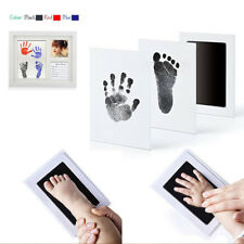 Baby Handprint Footprint Safe Ink Pad Keepsakes Picture Frame Save Moment Gift