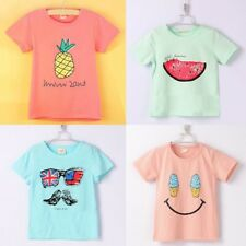 Baby Boys Girls Kids Big Moustache Printed T-Shirts Summer Short Sleeve Tops Tee