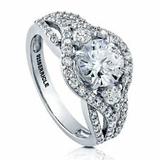 Sterling Silver Round Cubic Zirconia CZ Solitaire Promise Engagement Wedding Ri