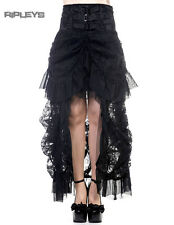 BANNED Black Steampunk Long GOTH LACE SKIRT Vampire Victorian All Sizes