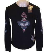 Bnwt Men's Christian Audigier Rhinestone T Shirt Panther Dagger Black New
