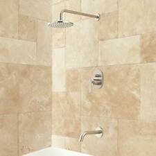 Signature Hardware Wingfield Tub and Shower Set with Rainfall Shower Head