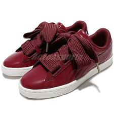 Puma Basket Heart Patent Wns Leather Tibetan Red Women Shoes Sneakers 363073-05