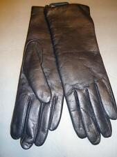 Fownes 100% Cashmere Lined Genuine Leather Gloves,Pewter, Large