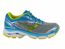 NEW WOMENS MIZUNO WAVE INSPIRE 13 RUNNING SHOES HIGH RISE / BOLT / BLUE ATOLL