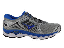 NEW MENS MIZUNO WAVE SKY RUNNING SHOES SILVER / DIRECTOIRE BLUE / BLACK