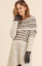 UMGEE On or Off Shoulder Oversized Bohemian Chunky Knit Sweater Tunic Top Dress