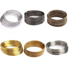 100/500 Loops Silver/Gold Plated Memory Steel Wire Cuff Bangle Bracelet 60mm