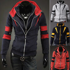 Men's Casual Fashion Slim Fit Sexy Designed Hoodies Sweaters Jackets Coats h