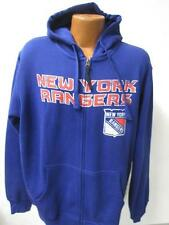 New York Rangers Mens Large X-Large Full Zip Screened Hooded Sweatshirt NYR 205