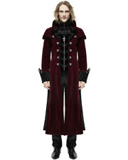 Devil Fashion Mens Coat Long Jacket Red Black Velvet Gothic Steampunk Aristocrat
