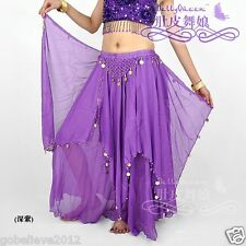 Hot! Brand New Sexy Belly Dance Skirt 13 Colors One Size Fits Most Free Shipping
