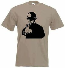 BANKSY RUDE COPPER T-SHIRT -  Police Policeman Cop 2 Fingers - Choice Of Colours