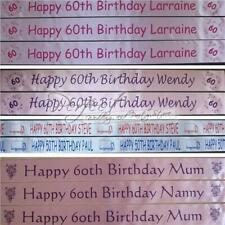 Personalised 60th Birthday Polyester Ribbon Party Decoration Banner 1Metre Long