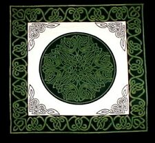 Celtic Wheel of Life Cushion Pillow Cover Tan/Green