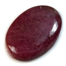 Natural Rhodonite SIDE DRILLED Oval Cabochon / Pendant Bead
