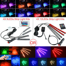 1 Set Car 9/12 LED Interior Atmosphere Neon Lights Strip Wireless Remote Control