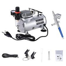 Airbrush & Compressor Kit Dual-Action Spray Air Brush Set Tattoo Art Decorating