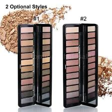 12 Colors Glitter Eyeshadow Eye Shadow Palette & Makeup Cosmetic Brush Set Z7D6