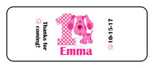 30 Blues Clues MAGENTA Hershey Nugget Labels Stickers Birthday Party Favors