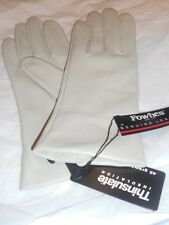 Fownes Thinsulate Genuine Leather Gloves,Ivory